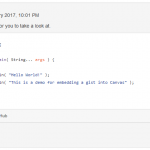 Gist embedded into Moodle post